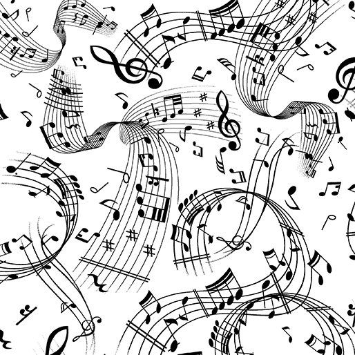 SWIRLING music white/black