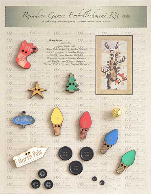 reindeer games embellishment kit