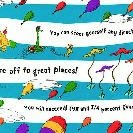 oh the places you'll go stripe- dr suess