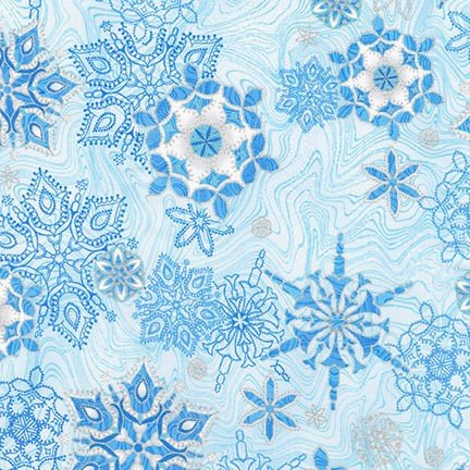 holiday flourish 11 snowflakes blue