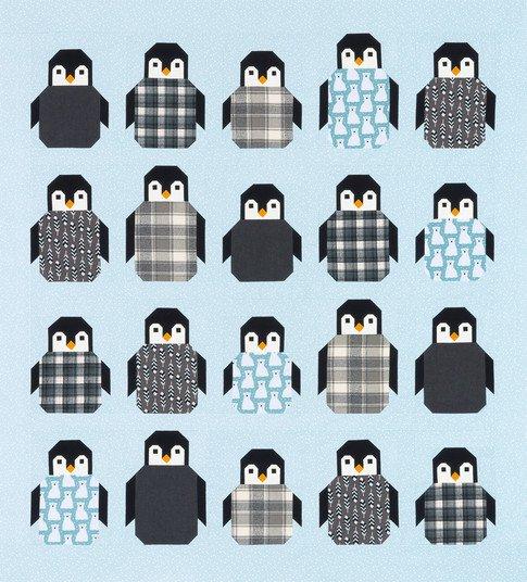 penguin party quilt kit