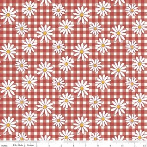 gingham girls daisy red