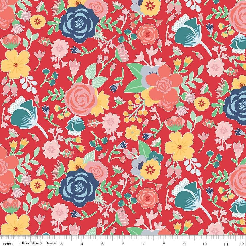 Midnight Blooms Main Red