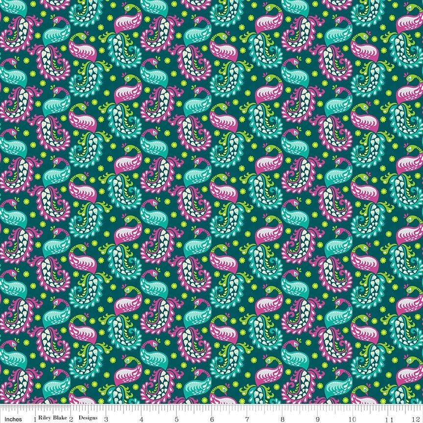 FLIT and bloom paisley teal