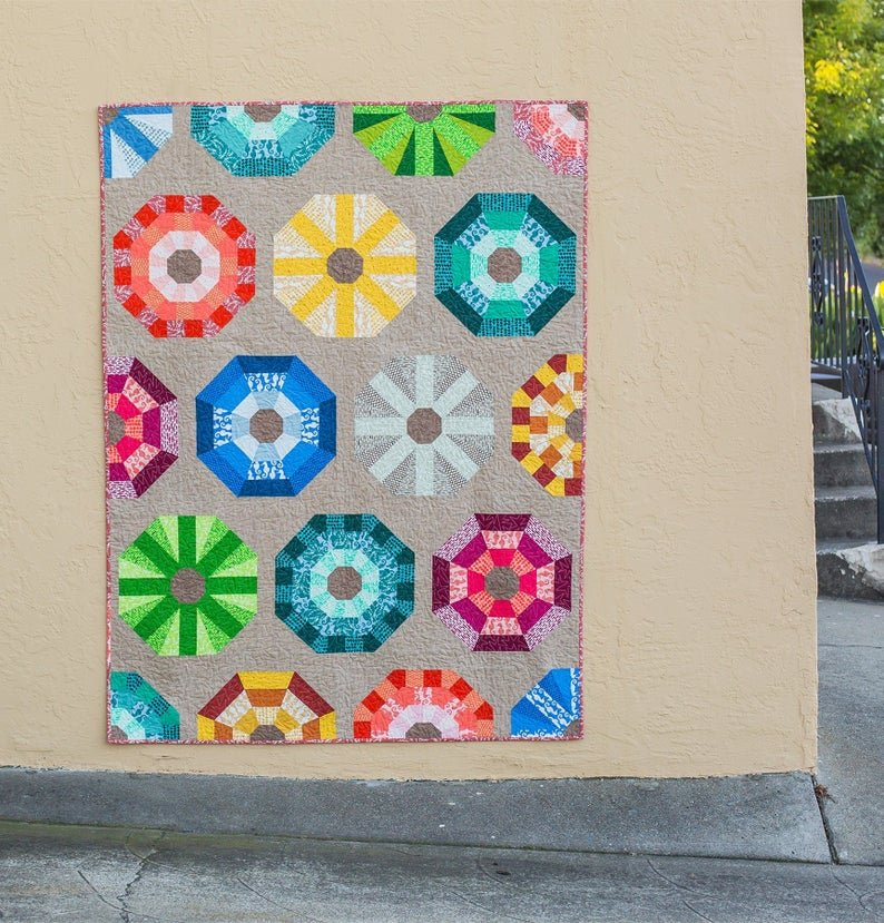 quilt kit: sea urchins featuring reef