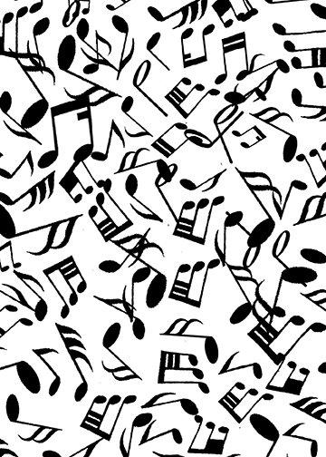 JAZZY notes white black