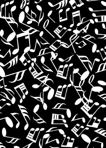 JAZZY notes black white