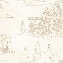 gingerbread christmas panel w/color