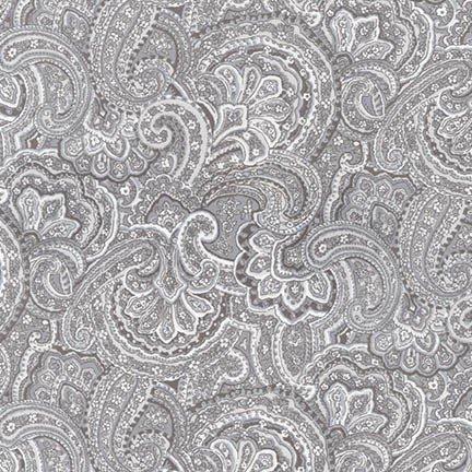 WOODSIDE blossom paisley grey