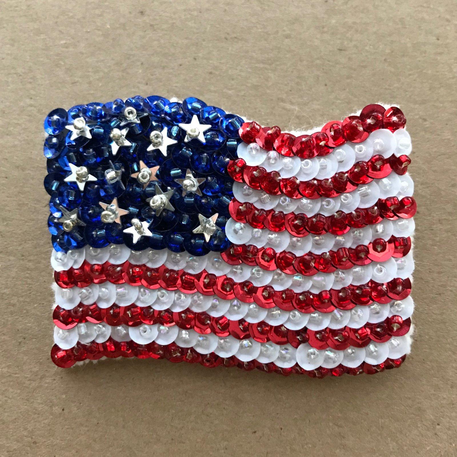 Beautiful Brooches - American Flag E-Pattern