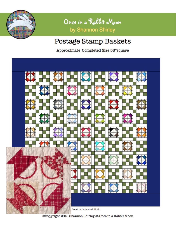 Postage Stamp Baskets E-Pattern