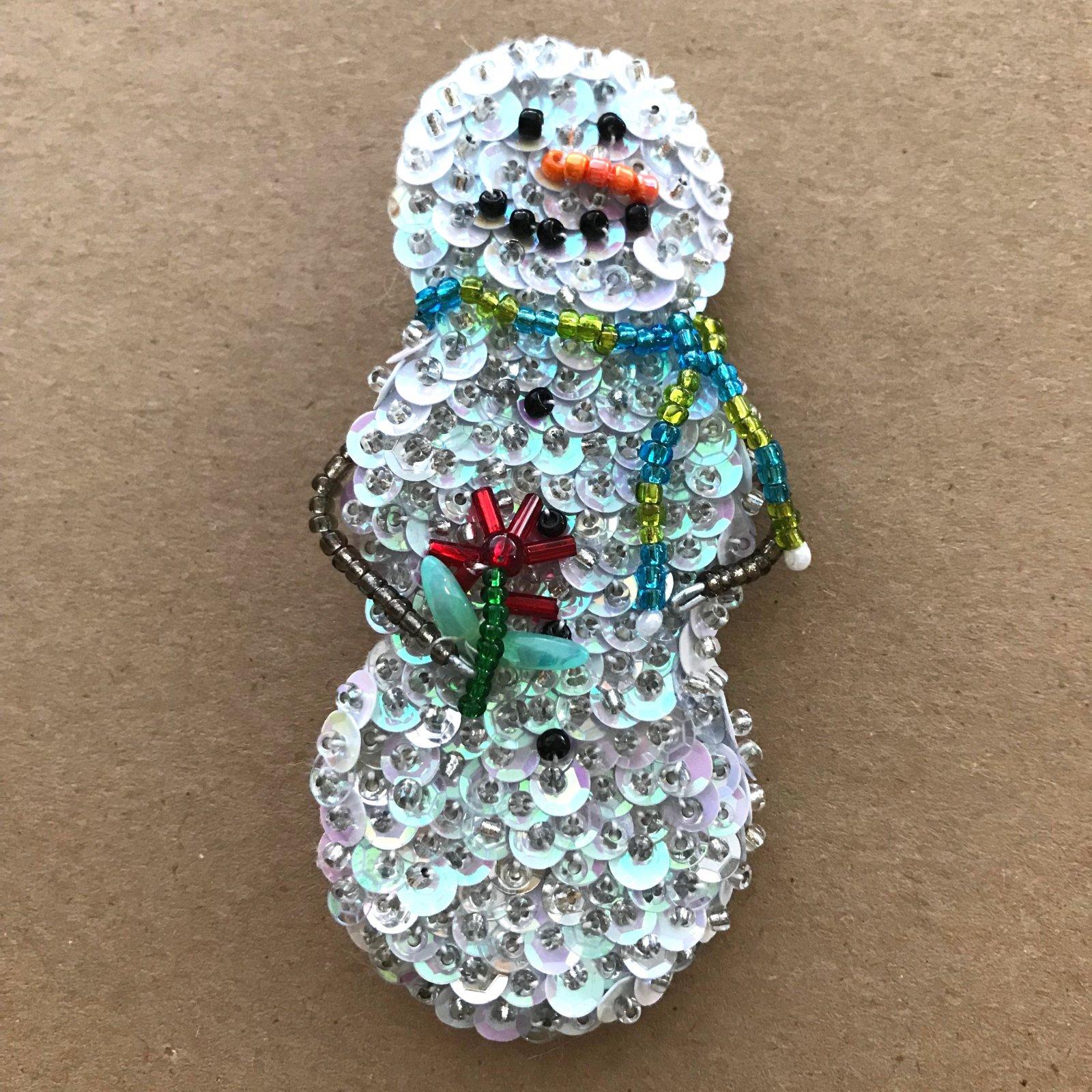 Beautiful Brooches - Snowman E-Pattern