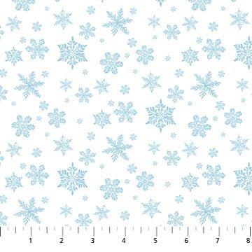 Northcott Christmas Woodland 23529-10 White