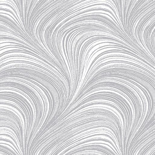 Benartex Pearlescent Wave Texture 2966P-08 Silver