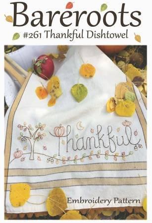 Dishtowel Pattern and Floss Kit - Thanksful
