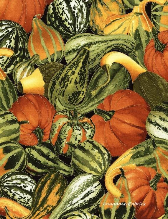 Timeless Treasures HARVEST-CM3218 Gourd