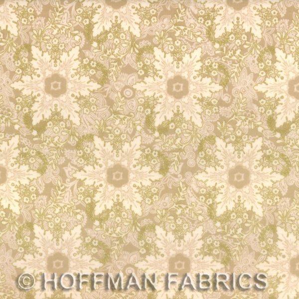 Hoffman Pear Tree Greetings L7350-33G Cream/Gold