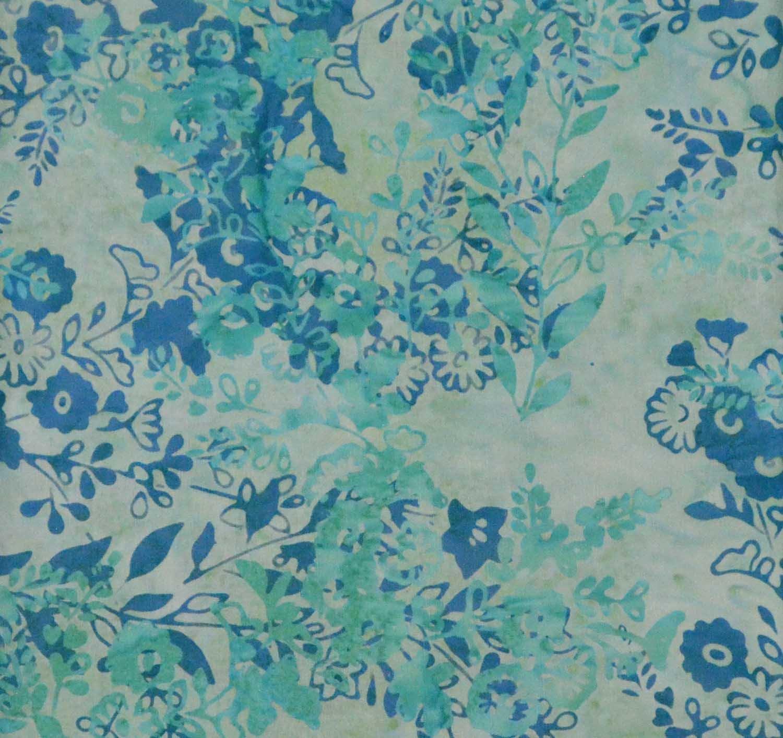 Teal Floral Batik