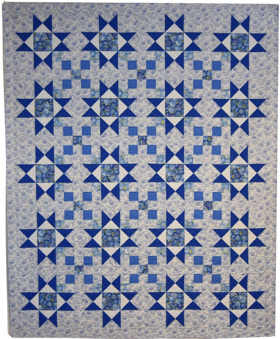 Stars and Four-Patches Quilt kit