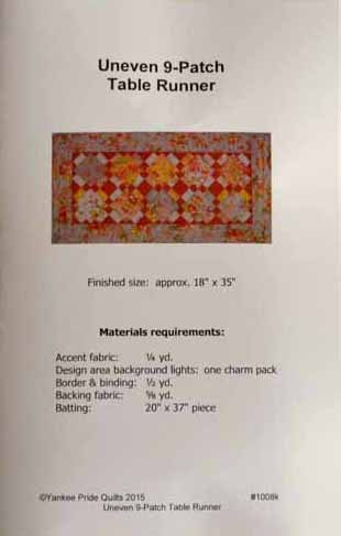 Uneven 9-Patch Table Runner kit