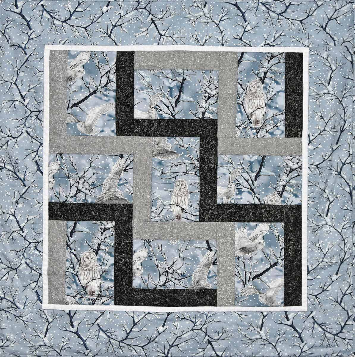 Uneven Rail Fence Wall Quilt Pattern