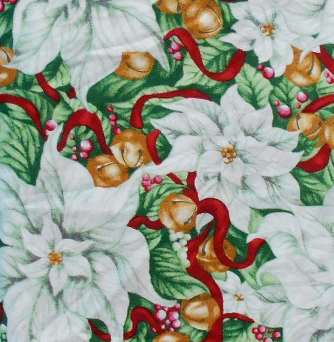 Clothworks Christmas in Bloom Y1511-109 Light Mint
