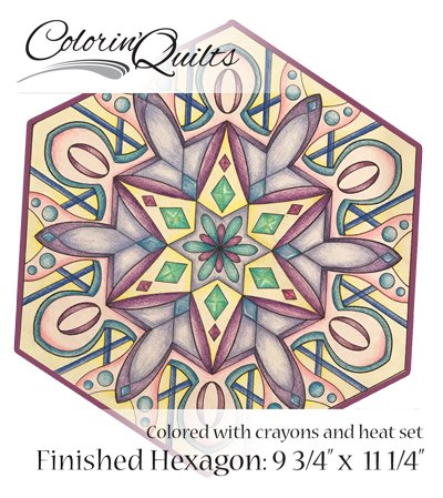 Colorin' Quilt - Millifiori Hexagon - #2