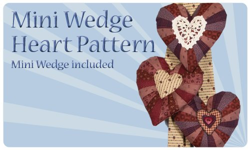 Mini Wedge Heart - mini wedge included
