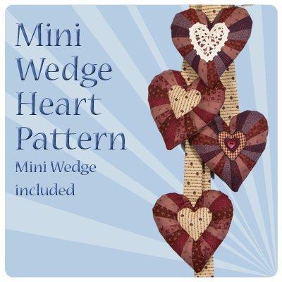 Mini Wedge Heart - mini wedge included
