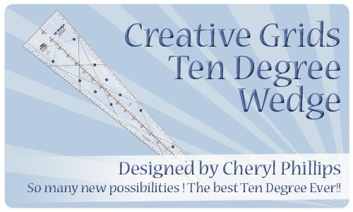 Creative Grids Ten Degree Wedge - CGRCP1