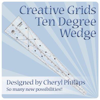 Creative Grids Ten Degree Wedge - CGRCP1