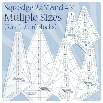 Squedge 22.5 and 45 Bundle - 8, 12, 16 block sizes --SAVE $15
