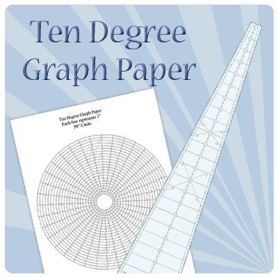 Ten Degree Graph paper