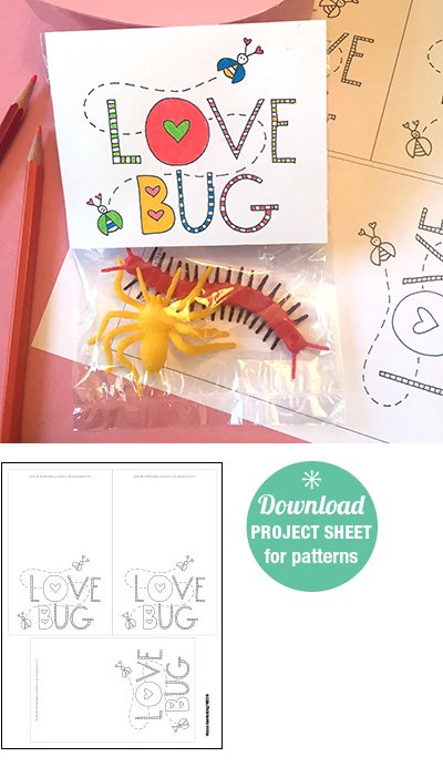 Color Me Love Bug Valentine