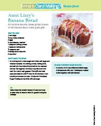 Aunt Lizzy's Banana Bread Project Sheet