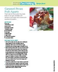 Caramel Pecan Pull-Aparts Recipe Sheet