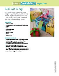 Kid Art Gift Wraps