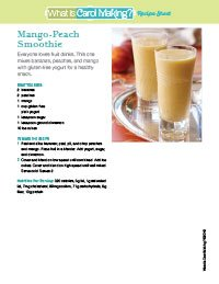 Gluten-Free Peach Mango Smoothie