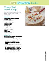 Potato Soup Recipe Sheet