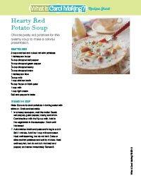 Potato Soup Recipe Sheet