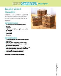 Rustic Wood Candles