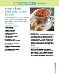 Tomato Basil Soup Recipe Sheet