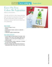 Color Me Monster Valentine Card