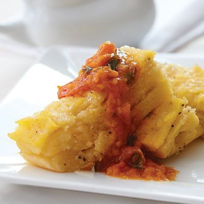 GF Swiss Cheese Polenta