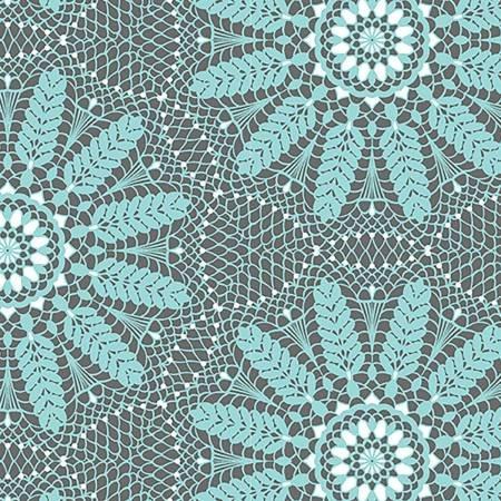 Aqua Crochet Lace - Meadow Dance