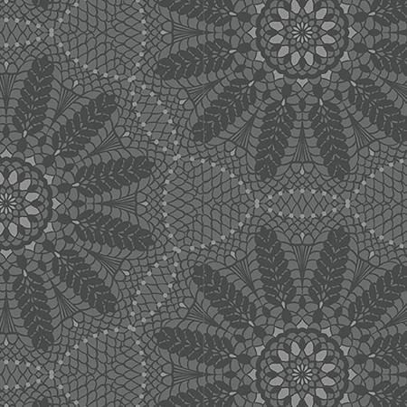Grey Crochet Lace - Meadow Dance