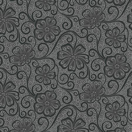 Dark Grey Floral - Meadow Dance