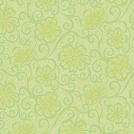 Light Green Floral Blender - Meadow Dance