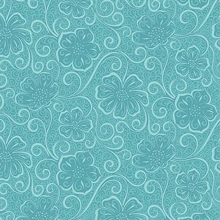 Turquoise Floral Blender - Meadow Dance