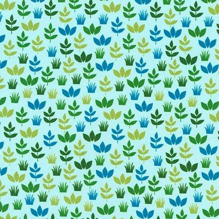 Safari Soiree - Aqua Leaf